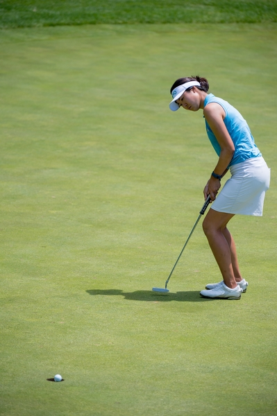 Erynne Lee just misses a birdie putt on the 9th hole during the final round of the Tullymore Classic on Sunday, July 3, 2016.  (Andrew Knapik Photography)