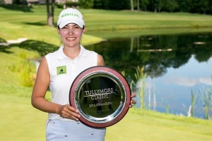 Paola Moreno poses with her championship plaque after the final round of the Tullymore Classic on Sunday, July 3, 2016.  (Andrew Knapik Photography)
